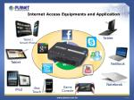 internet access equipments and application