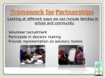 framework for partnerships