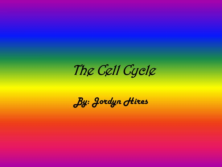 the cell cycle n.