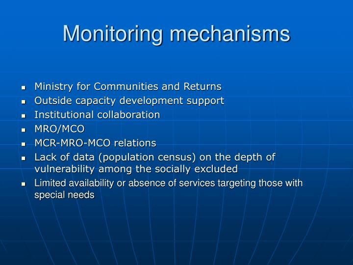 Monitoring mechanisms