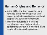 human origins and behavior