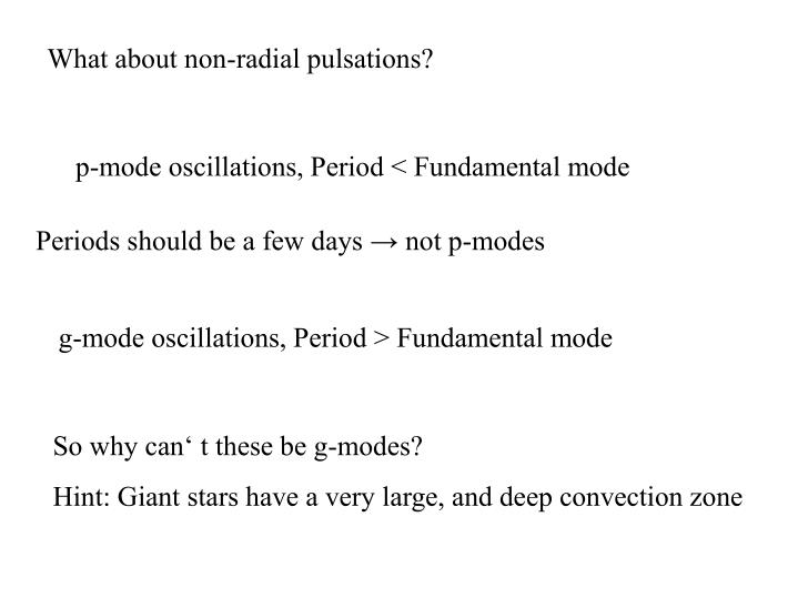 What about non-radial pulsations?
