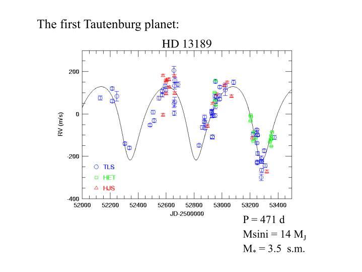 The first Tautenburg planet: