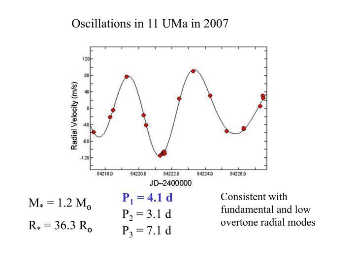 Oscillations in 11 UMa in 2007