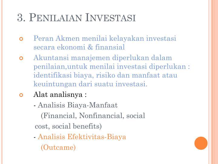 3. Penilaian Investasi