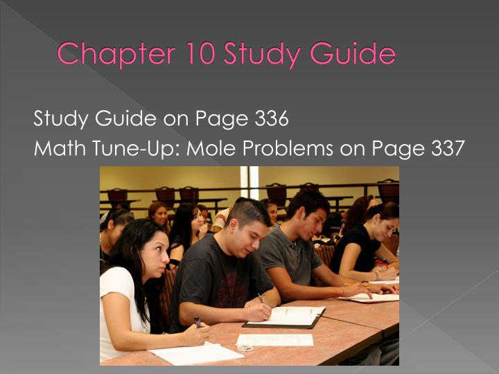 Chapter 10 Study Guide