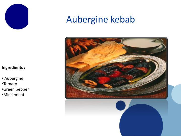 Aubergine kebab