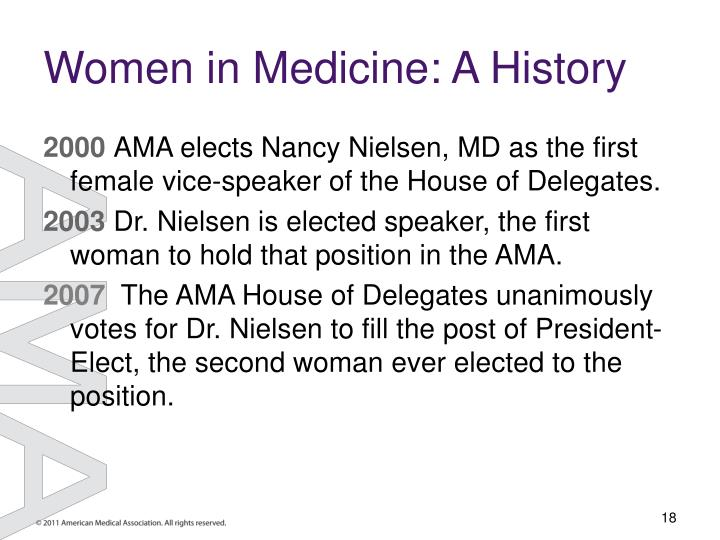 Women in Medicine: A History
