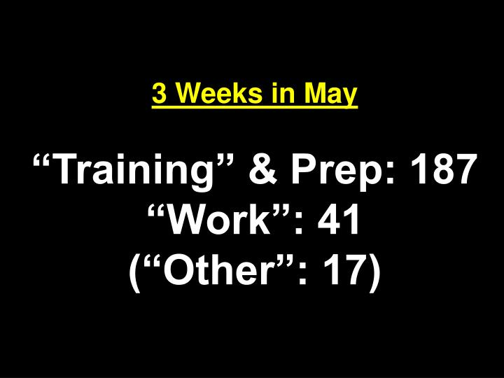 3 Weeks in May