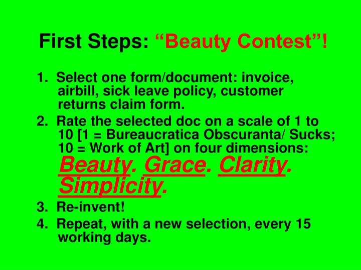 First Steps: