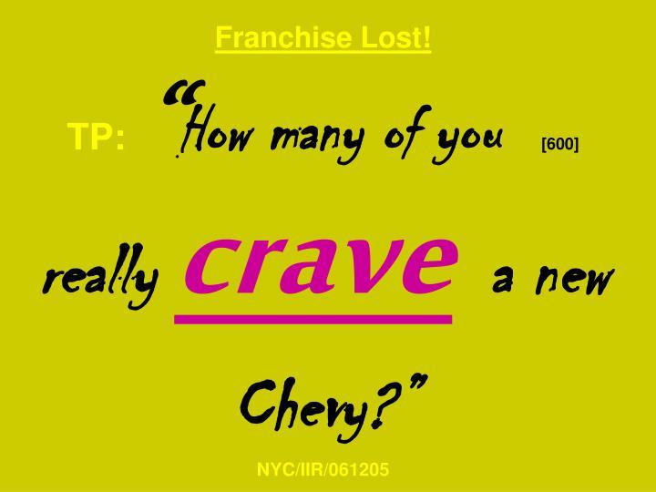 Franchise Lost!
