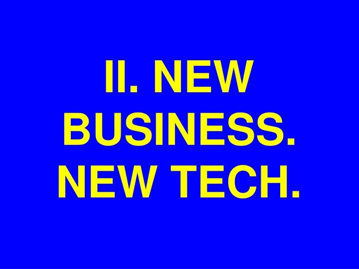II. NEW BUSINESS.