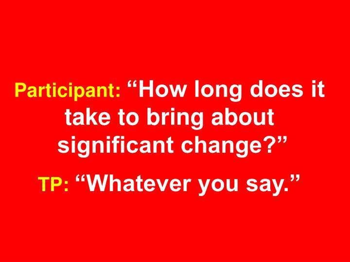 Participant: