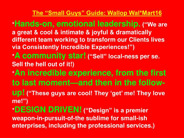 """The """"Small Guys"""" Guide: Wallop Wal*Mart16"""
