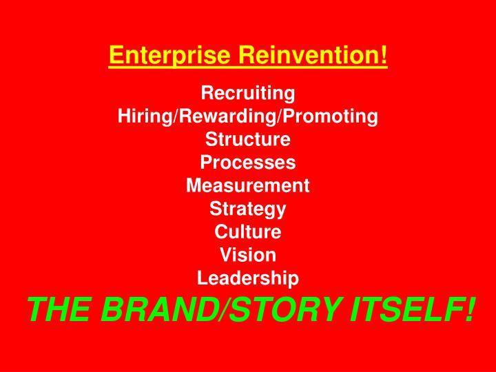 Enterprise Reinvention!
