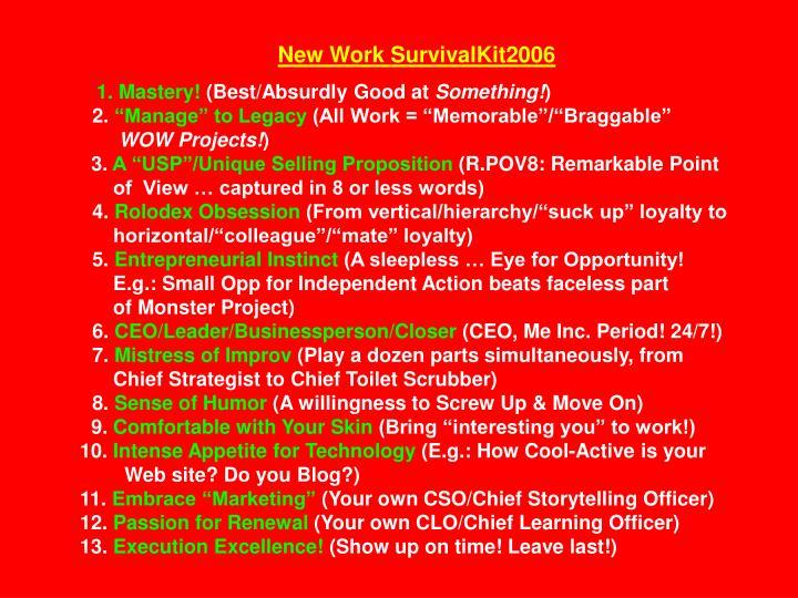 New Work SurvivalKit2006