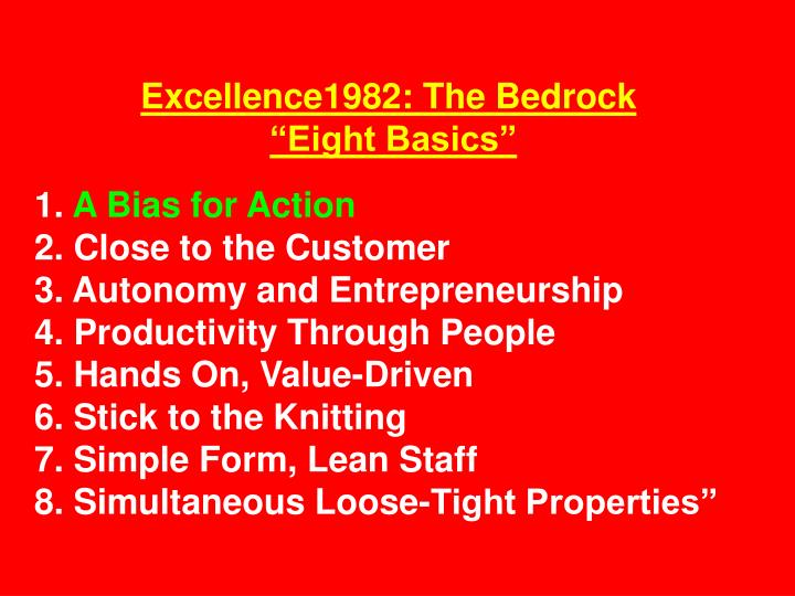Excellence1982: The Bedrock