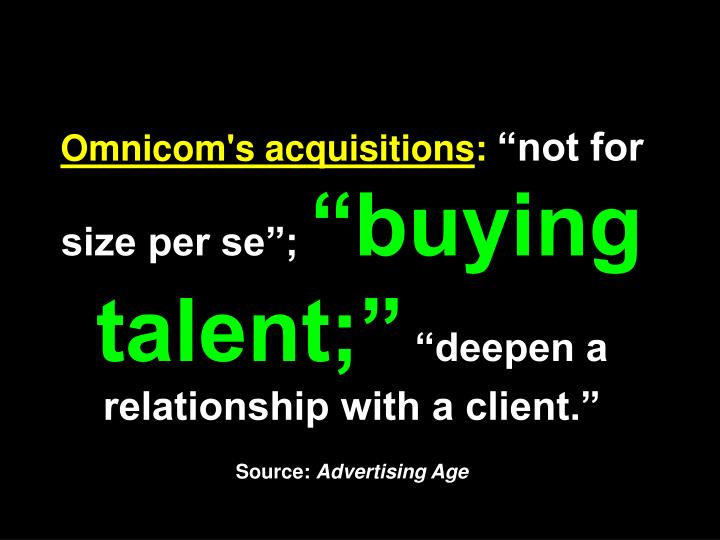 Omnicom's acquisitions