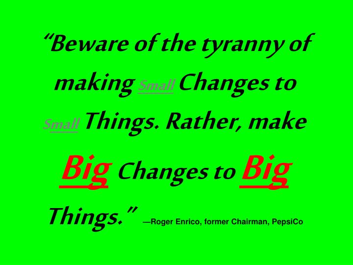 """""""Beware of the tyranny of making"""
