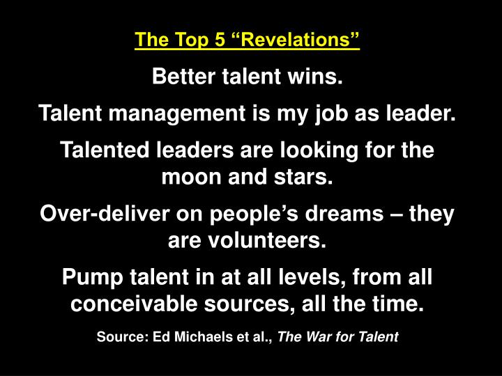 "The Top 5 ""Revelations"""