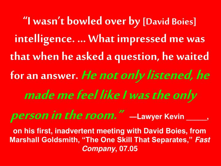 """""""I wasn't bowled over by"""