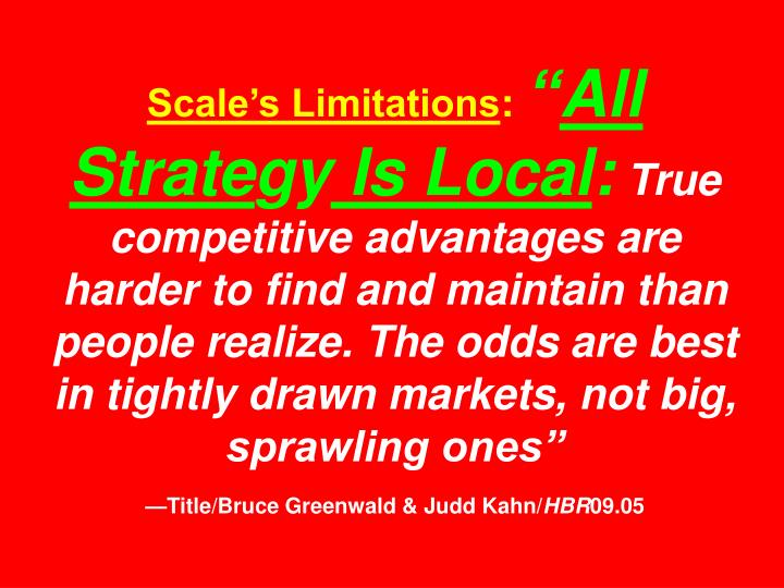 Scale's Limitations