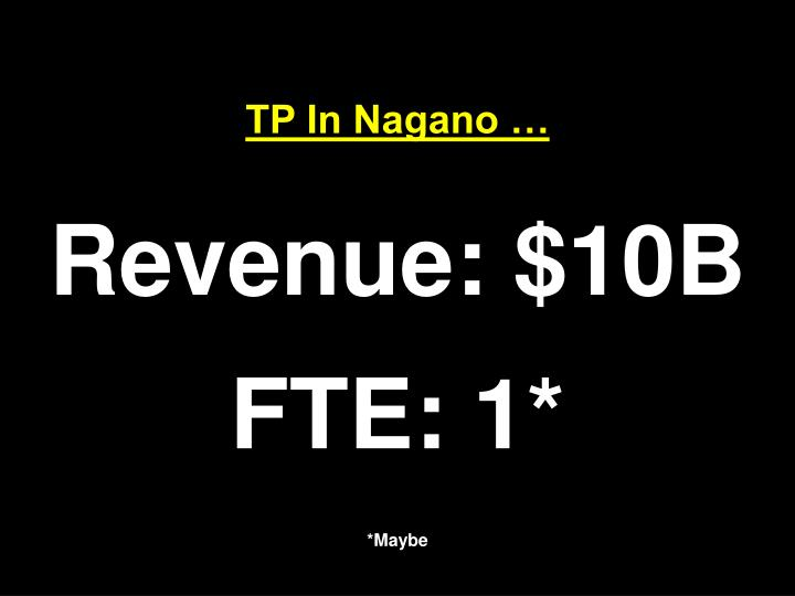 TP In Nagano …