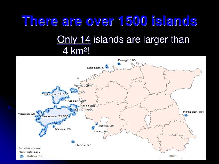 There are over 1500 islands