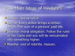 four main ideas of hinduism