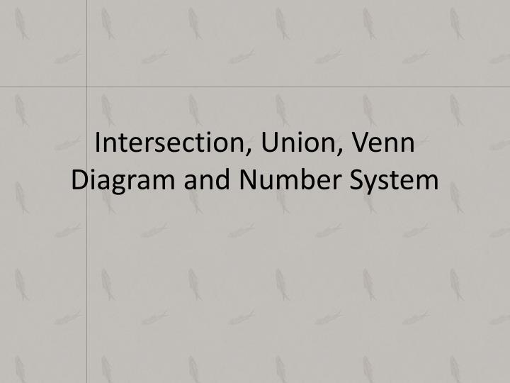 intersection union venn diagram and number system n.