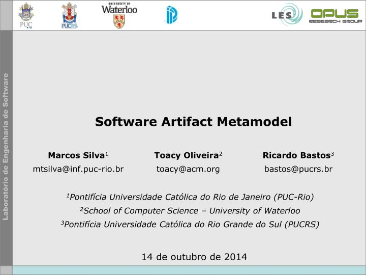 Software Artifact Metamodel