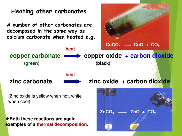 Heating other carbonates