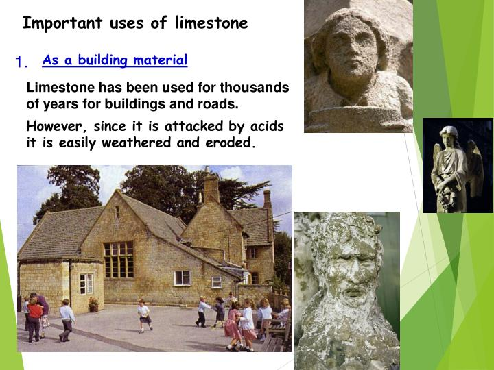 Important uses of limestone