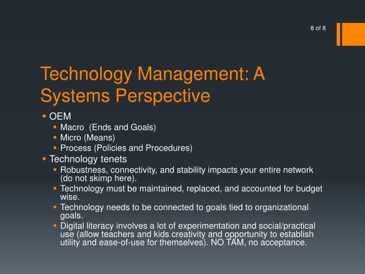 Technology Management: A Systems