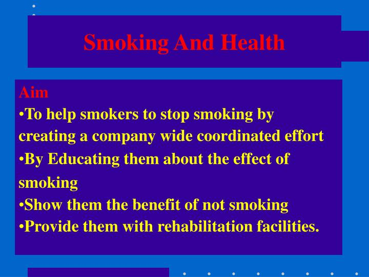 thesis statement for the effect of smoking in our health The cause and effect essay is one that asks you to the thesis statement is highlighting the main one of the things that our writing service always.