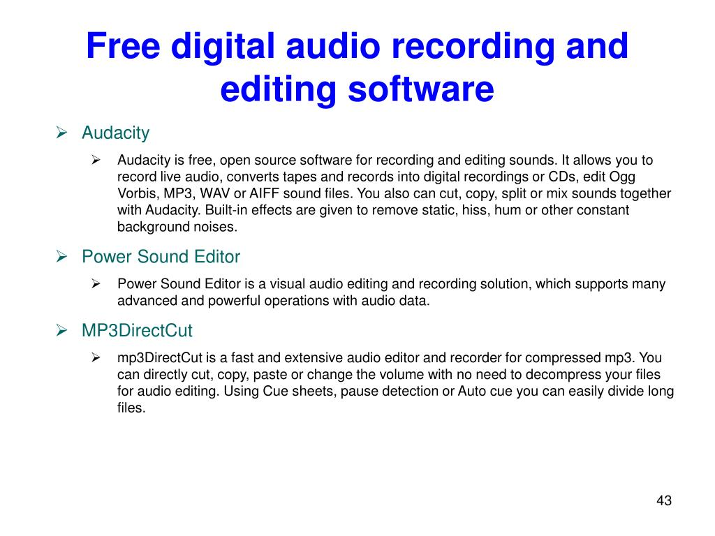 PPT - Media Processing – Audio Part PowerPoint Presentation - ID:5545601