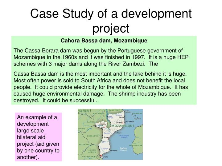 Case Study of a development project
