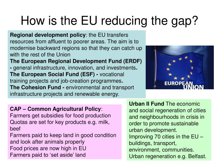 How is the EU reducing the gap?