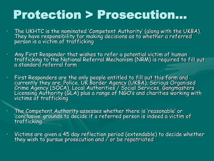 Protection > Prosecution…