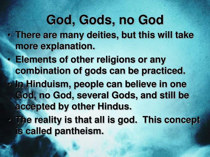 God, Gods, no God