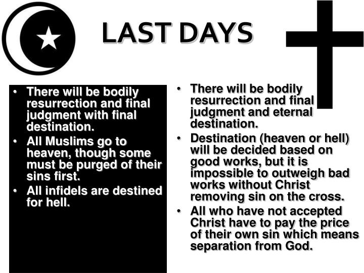 There will be bodily resurrection and final judgment with final destination.
