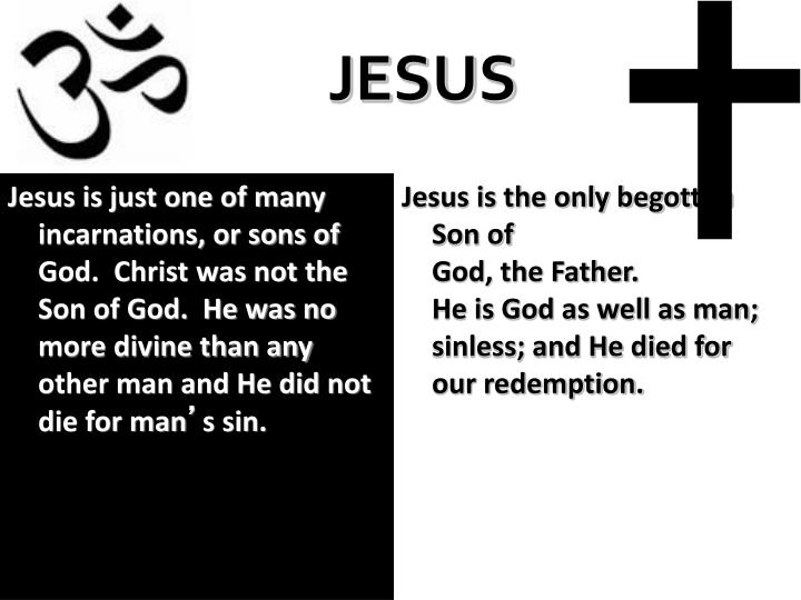 Jesus is the only begotten Son of