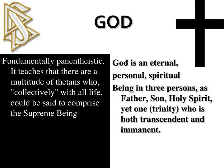 God is an eternal,