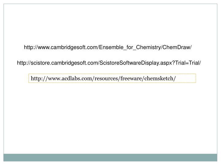 http://www.cambridgesoft.com/Ensemble_for_Chemistry/ChemDraw/