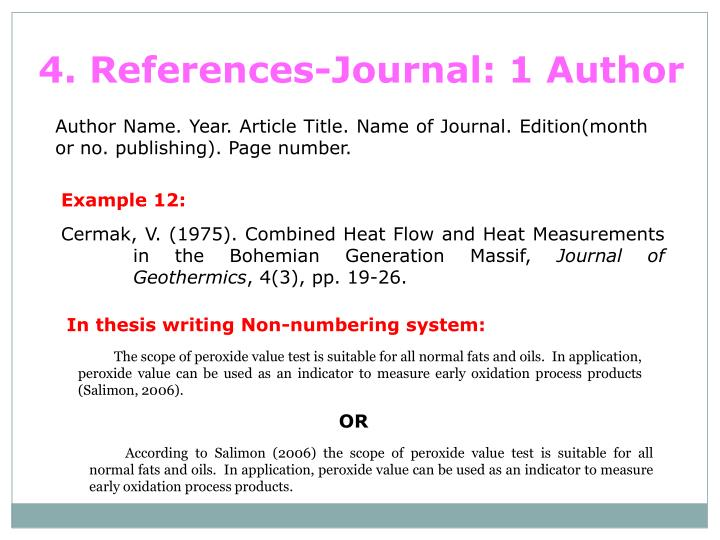 4. References-Journal: 1 Author