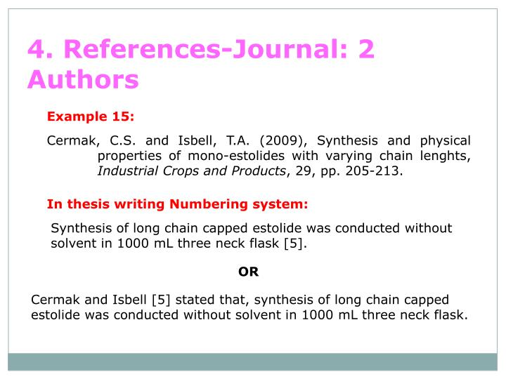 4. References-Journal: 2 Authors