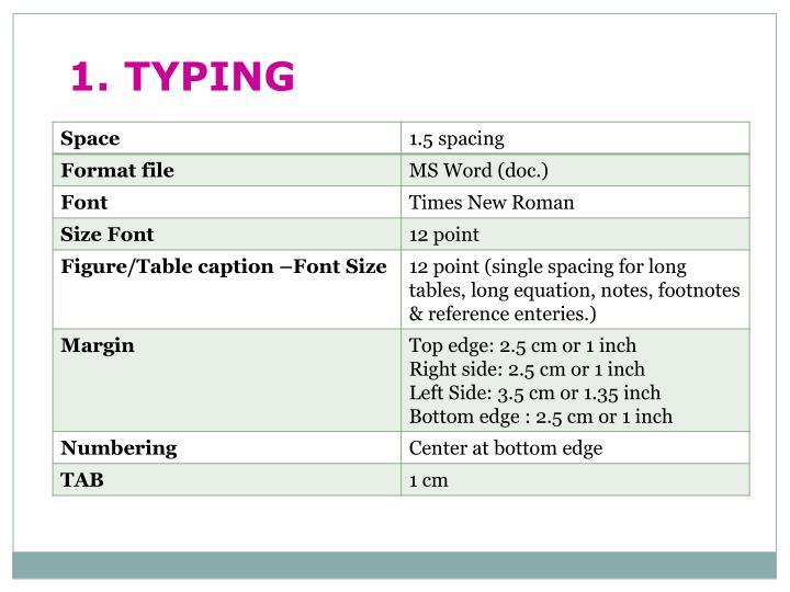 1. TYPING
