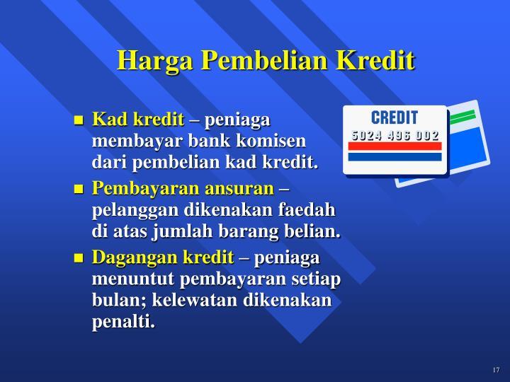Harga Pembelian Kredit