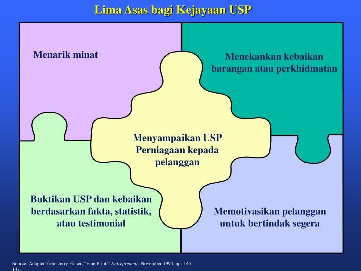 Lima Asas bagi Kejayaan USP