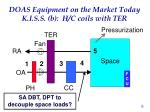 doas equipment on the market today k i s s b h c coils with ter